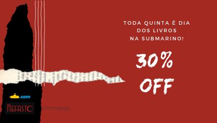 QUINTOU! Toda quinta temos 30% off em livros no Submarino